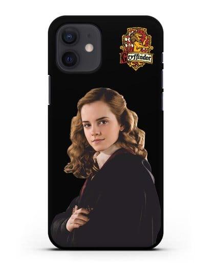 Чехол с изображением Гермионы Грейнджер силикон черный для iPhone 12