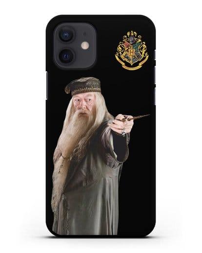 Чехол с изображением Альбуса Дамблдора силикон черный для iPhone 12