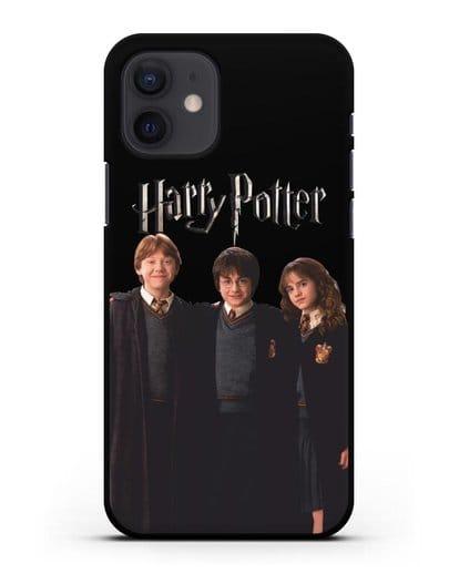 Чехол с изображением Гарри Поттера, Рона Узли и Гермионы Грейнджер силикон черный для iPhone 12