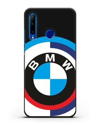 Чехол с логотипом BMW силикон черный для Honor 10i