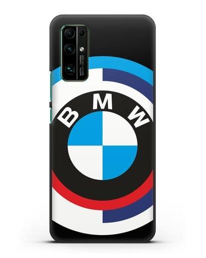 Чехол с логотипом BMW силикон черный для Honor 30