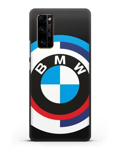Чехол с логотипом BMW силикон черный для Honor 30 Pro