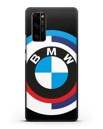 Чехол с логотипом BMW силикон черный для Honor 30 Pro Plus