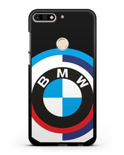 Чехол с логотипом BMW силикон черный для Honor 7C
