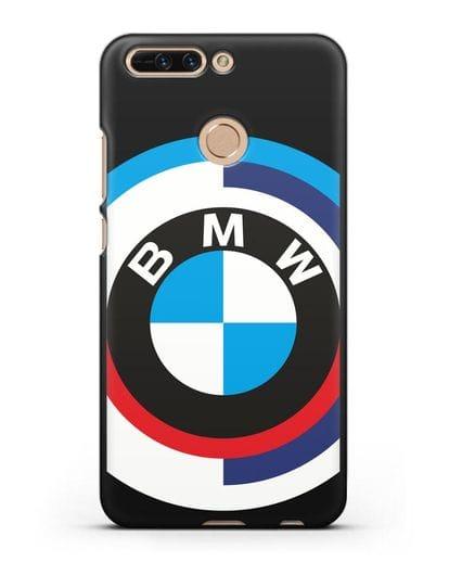 Чехол с логотипом BMW силикон черный для Honor 8 Pro