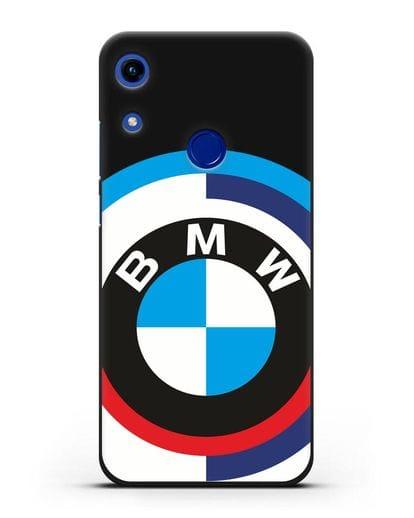 Чехол с логотипом BMW силикон черный для Honor 8A