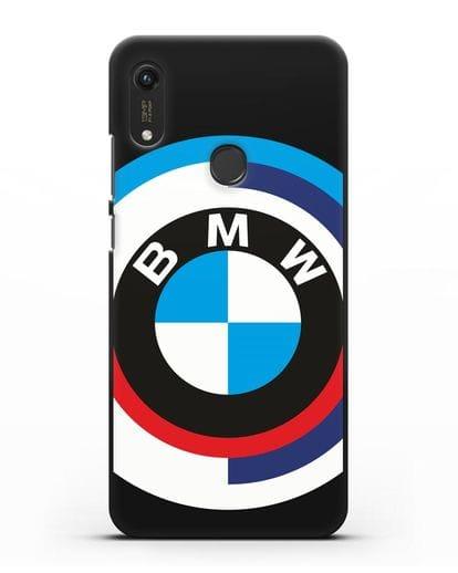Чехол с логотипом BMW силикон черный для Honor 8A Prime