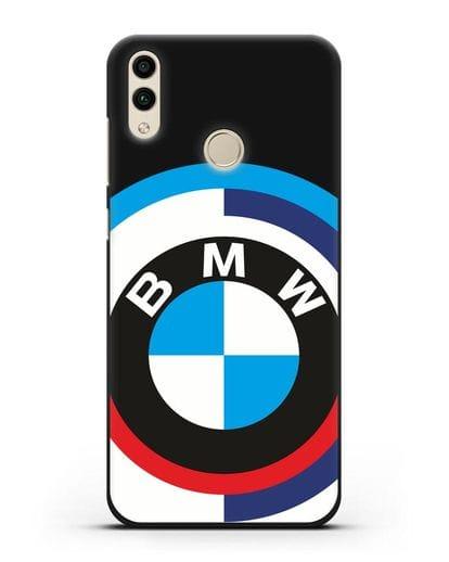 Чехол с логотипом BMW силикон черный для Honor 8C