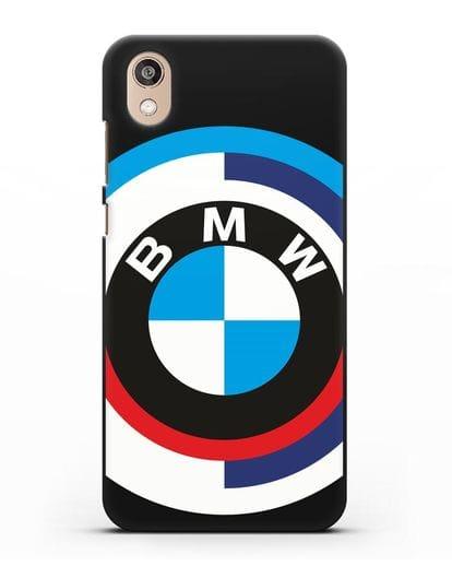 Чехол с логотипом BMW силикон черный для Honor 8S