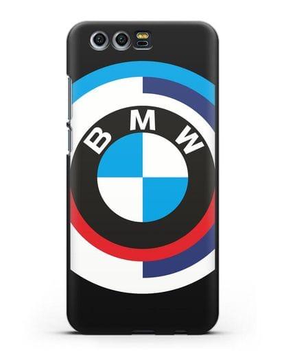Чехол с логотипом BMW силикон черный для Honor 9