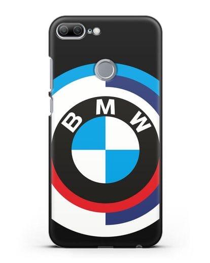 Чехол с логотипом BMW силикон черный для Honor 9 Lite