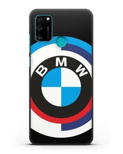 Чехол с логотипом BMW силикон черный для Honor 9A