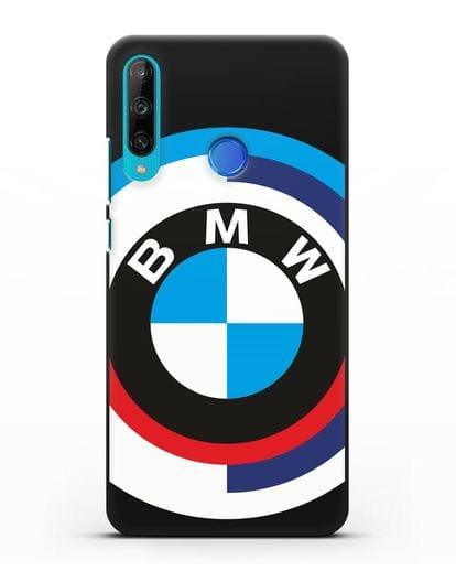 Чехол с логотипом BMW силикон черный для Honor 9C