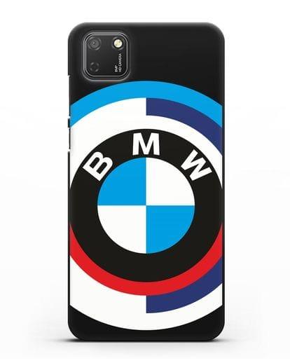 Чехол с логотипом BMW силикон черный для Honor 9S