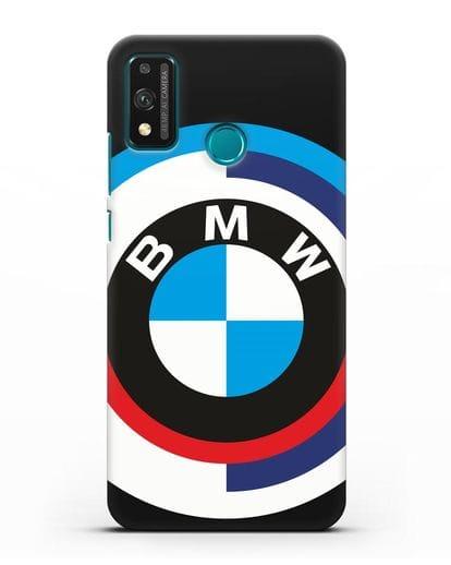 Чехол с логотипом BMW силикон черный для Honor 9X lite