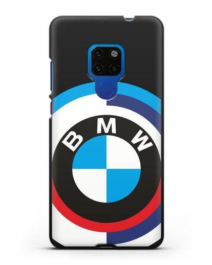 Чехол с логотипом BMW силикон черный для Huawei Mate 20