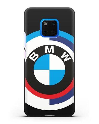 Чехол с логотипом BMW силикон черный для Huawei Mate 20 Pro