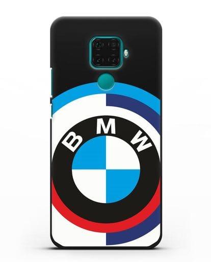 Чехол с логотипом BMW силикон черный для Huawei Mate 30 Lite