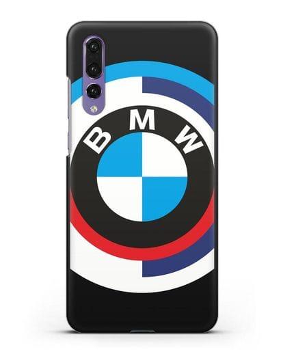 Чехол с логотипом BMW силикон черный для Huawei P20 Pro