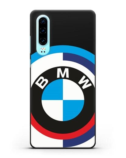 Чехол с логотипом BMW силикон черный для Huawei P30