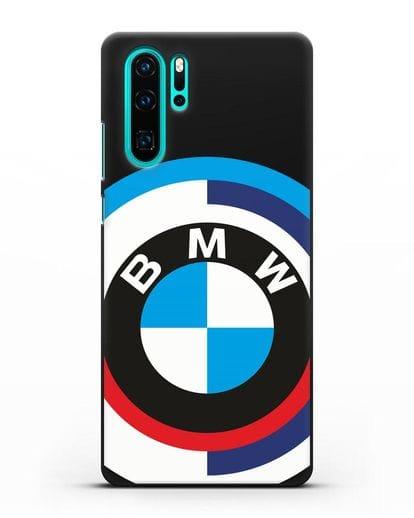 Чехол с логотипом BMW силикон черный для Huawei P30 Pro