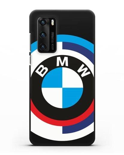 Чехол с логотипом BMW силикон черный для Huawei P40