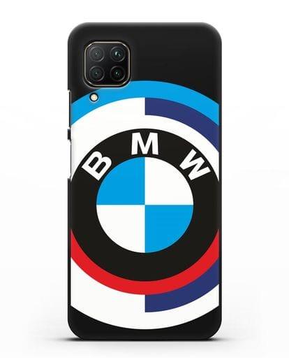 Чехол с логотипом BMW силикон черный для Huawei P40 lite