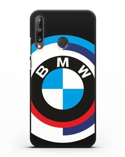 Чехол с логотипом BMW силикон черный для Huawei P40 lite E