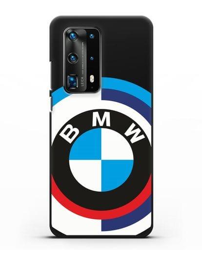Чехол с логотипом BMW силикон черный для Huawei P40 Pro