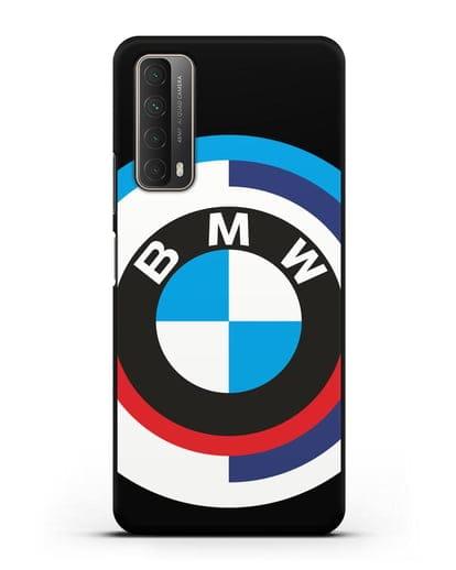 Чехол с логотипом BMW силикон черный для Huawei P Smart 2021