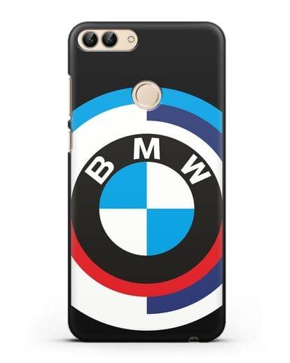 Чехол с логотипом BMW силикон черный для Huawei P Smart