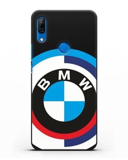 Чехол с логотипом BMW силикон черный для Huawei P Smart Z