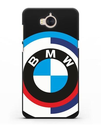 Чехол с логотипом BMW силикон черный для Huawei Y5 2017