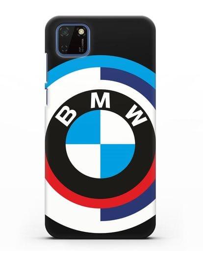 Чехол с логотипом BMW силикон черный для Huawei Y5P