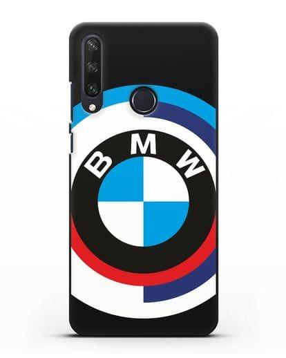 Чехол с логотипом BMW силикон черный для Huawei Y6P