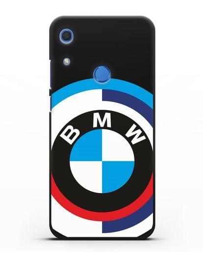 Чехол с логотипом BMW силикон черный для Huawei Y6s