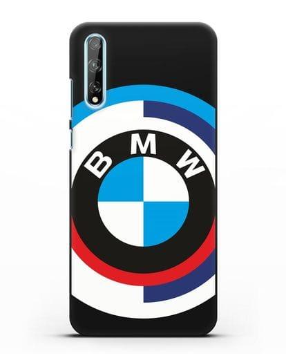 Чехол с логотипом BMW силикон черный для Huawei Y8P