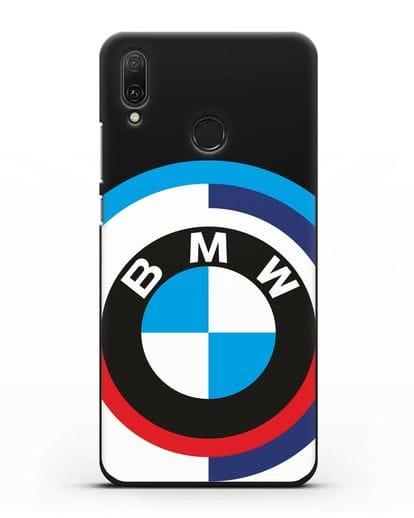 Чехол с логотипом BMW силикон черный для Huawei Y9 2019
