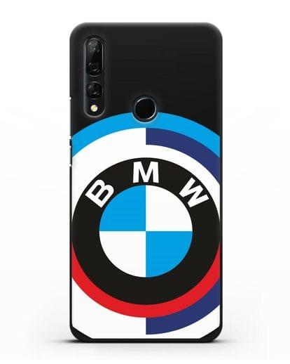 Чехол с логотипом BMW силикон черный для Huawei Y9 Prime 2019