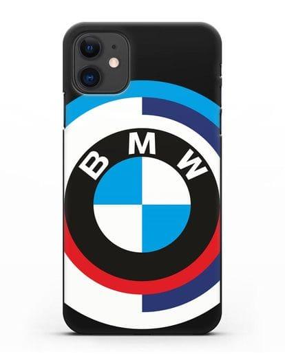 Чехол с логотипом BMW силикон черный для iPhone 11