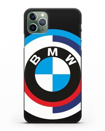 Чехол с логотипом BMW силикон черный для iPhone 11 Pro Max
