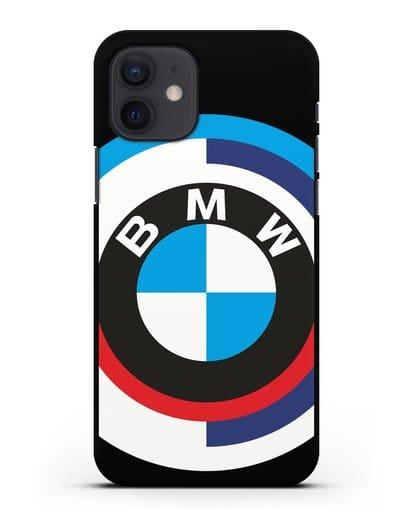 Чехол с логотипом BMW силикон черный для iPhone 12