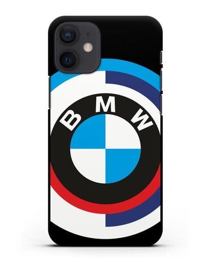Чехол с логотипом BMW силикон черный для iPhone 12 mini