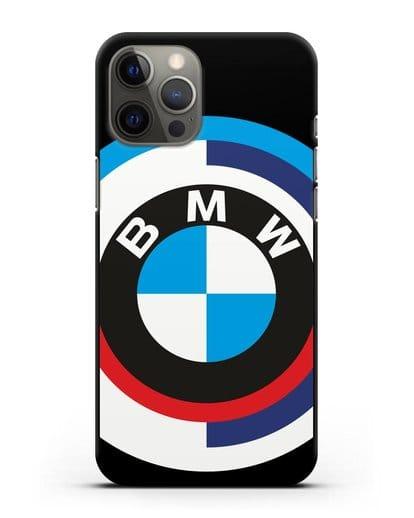 Чехол с логотипом BMW силикон черный для iPhone 12 Pro Max