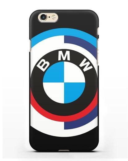 Чехол с логотипом BMW силикон черный для iPhone 6