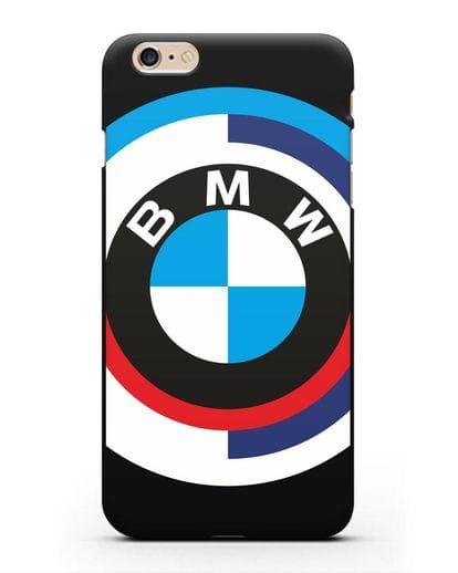 Чехол с логотипом BMW силикон черный для iPhone 6 Plus