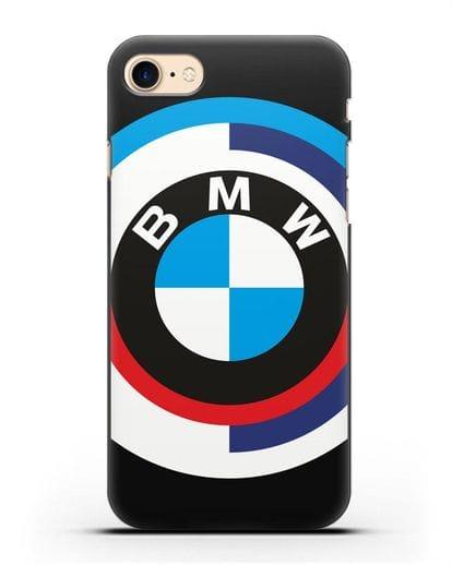 Чехол с логотипом BMW силикон черный для iPhone 8