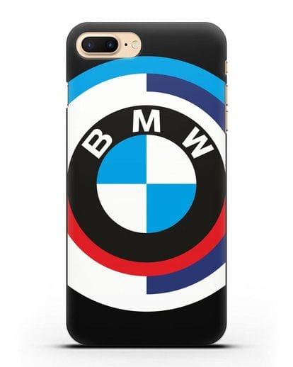 Чехол с логотипом BMW силикон черный для iPhone 8 Plus