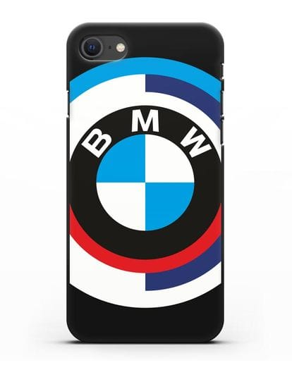 Чехол с логотипом BMW силикон черный для iPhone SE 2020