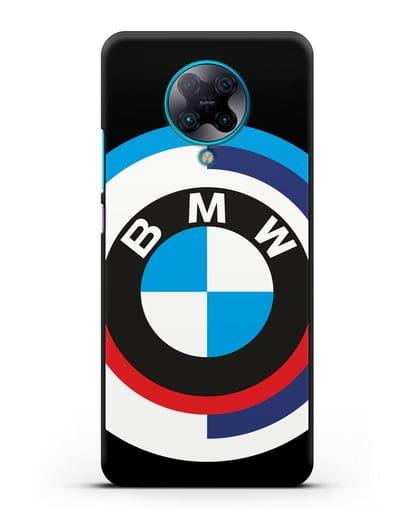 Чехол с логотипом BMW силикон черный для Xiaomi Poco F2 Pro
